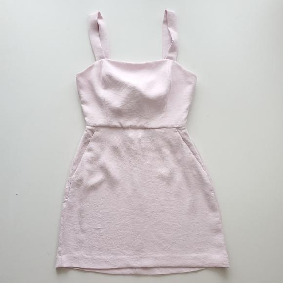 Aritzia wilfred ecoulement mini dress, light pink